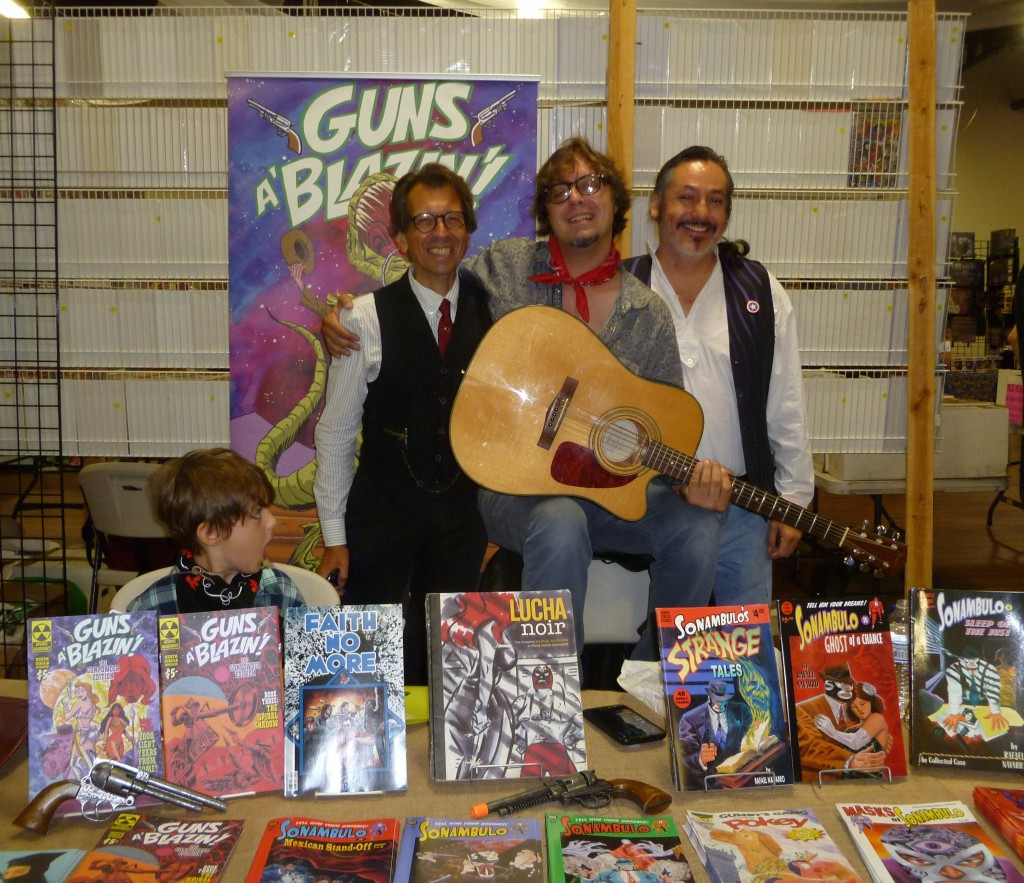 Batton with Mike Wellman and Rafael Navarro.